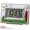 【送料無料】 リズム時計 キャラクター電波目覚し時計 スヌーピーR187 8RZ187-M03