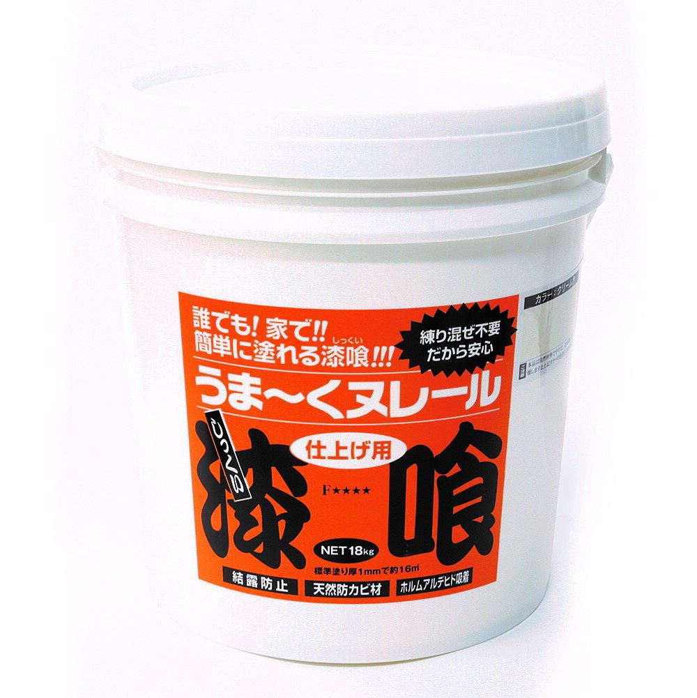 日本プラスター 漆喰うま〜くヌレール 18kg 水色