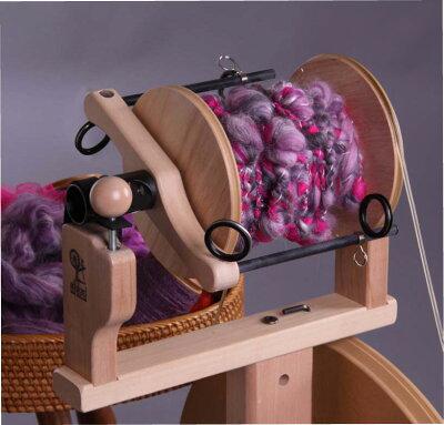 キウイ紡毛機に取り付けてアートヤーンを楽しく紡ぎましょうアシュフォード・キウイ スーパーフ...