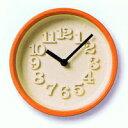 ◆お家応援!ポイント10倍!◆【デザイン:渡辺力】Lemnos(レムノス)インテリアクロック小さな時計 WR07-15 OR オレンジ