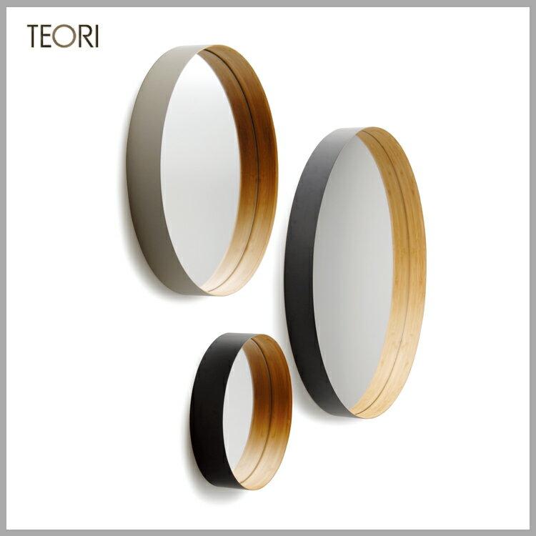 ◆特選!ポイント15倍!◆TEORI(テオリ) 竹集成材プロジェクト壁掛けミラー S ZERO