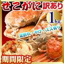予約!山陰鳥取県産 セコガニ(訳あり せいこがに せこがに 親がに)約1kg詰(5〜10枚入) 未冷 ...