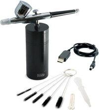 Bolido  充電式シングルアクションエアブラシ  無線(クローム素材の高級エアブラシ・クリーニングブラシ付き)