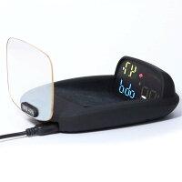 LAMPO【日本ブランド/メーカー保証付】LA-18 ヘッドアップディスプレイ スピードメーター HUD OBD+GPS ハイブリッド 滑り止めマット付き 日本語取扱説明書