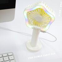 LAMPO【スターフラワーハンディ扇風機】携帯扇風機卓上扇風機手持ちUSB扇風機USB充電ミニ扇風機3段階風量調節3モードのLEDライト