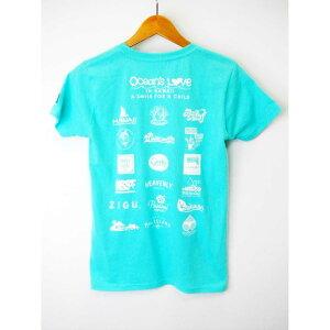 オーシャンズラブ OCEAN'S LOVEメンズ マハロハワイTシャツ アクアNPO法人 ボランティア サーフィン おしゃれ
