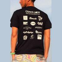 (オーシャンズラブ)OCEAN'SLOVE【メンズ】アロハハワイTシャツcolor=ネイビーNPO法人ボランティアサーフィンおしゃれ