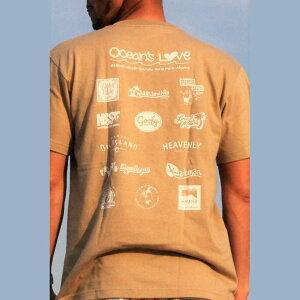 (オーシャンズラブ)OCEAN'S LOVE 【メンズ】2018モデル アロハハワイTシャツcolor=サンドNPO法人 ボランティア サーフィン おしゃれ