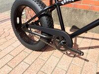 "【MODEL】""BRONX20nchFAT-BIKES""""湘南鵠沼海岸発信""20inchファットバイク《RAINBOWBRONX20inchFAT-BIKES》COLOR:マットブラック×ブラックリムP15Aug15"