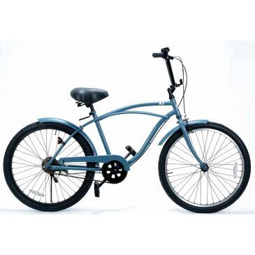 ポイント2倍レインボー ビーチクルーザー 24インチ おしゃれ 自転車 通勤 通学 メンズ レディース ジュニア 24KB-1SPEED バトルシップグレー