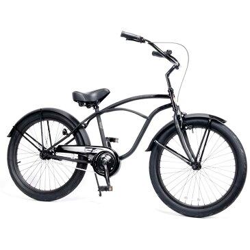 ポイント2倍レインボー ビーチクルーザー 24インチ おしゃれ 自転車 通勤 通学 メンズ レディース 24TOWN ダースベーダー