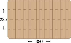 ウッドカーペット本間6畳(約285×380cm)