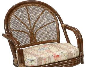 【あす楽】ラタン回転チェアC712HRJ1ハイタイプ回転椅子回転座椅子回転座イスアジアンラタン籐回転座いす和風洋風パソコン【楽ギフ_のし宛書】【楽ギフ_メッセ】CT14