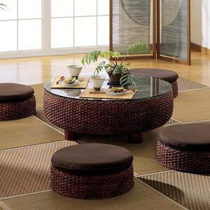 アジアンラタンテーブル