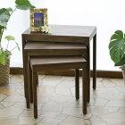 T220KA アジアン家具 インテリア 安い ネストテーブル テーブル 机 おしゃれ 収納 3点セット