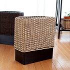 GK307LAT アジアン家具 インテリア 安い おしゃれ ゴミ箱 ダストボックス ラタン 籐 木製 分別 リビング キッチン スリム 隙間