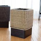 GK307SAT アジアン家具 インテリア 安い おしゃれ ゴミ箱 ダストボックス ラタン 籐 木製 分別 リビング キッチン