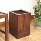 GK606KA アジアン家具 ごみ箱 ダストボックス チーク 無垢 木製 北欧