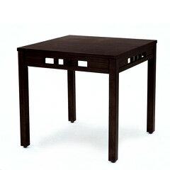 アジアン家具 インテリア ダイニングテーブル 机 スクエア 正方形 76cm幅 木製 ラタン 籐 おしゃれ