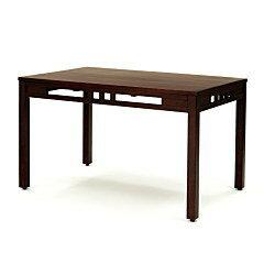 アジアン家具 インテリア ダイニングテーブル 机 スクエア 150cm幅 木製 ラタン 籐 おしゃれ