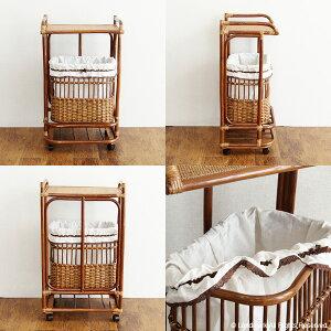 アジアン家具ラタンランドリー収納ラック木製籐