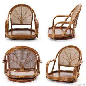【送料無料・翌日出荷】立ち座りらくらくラタンチェア籐回転座椅子リラックス椅子(イス・チェア)籐製(ラタン)回転チェア