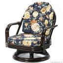 【あす楽】籐回転椅子 C711CBAS ミドルタイプ 籐回転チェア 回転イス 座椅子 回転 ローチェア 和 和風 アジアン 座椅子 ラタン 籐 CT17