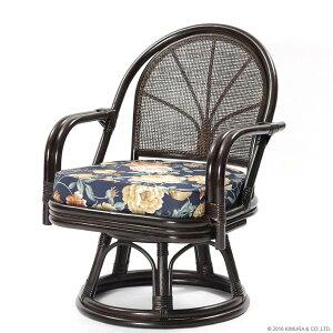 【あす楽】籐回転座椅子ハイタイプC712CBA1背クッション無し【回転座椅子イスチェア和座椅子ラタンチェアリラックス椅子アジアン激安イスチェア【楽ギフ_のし宛書】【楽ギフ_メッセ】CT14