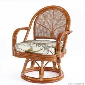 【あす楽】籐回転座椅子ハイタイプC712HRC1背クッション無し【回転座椅子イスチェア和座椅子ラタンチェアリラックス椅子アジアン激安イスチェア【楽ギフ_のし宛書】【楽ギフ_メッセ】CT14
