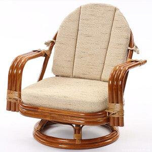 【】籐回転座椅子回転チェアC821HRHSミドルタイプ回転椅子回転チェアラタンミドルタイプ回転座椅子籐ラタン格安和和風アジアン【_のし宛書】【_メッセ】CT15