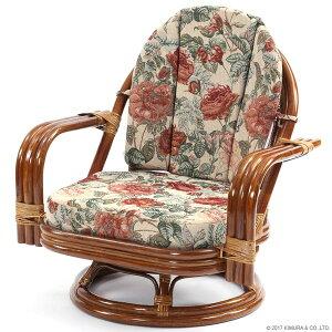 【】籐回転座椅子回転チェアC821HRBSミドルタイプ回転椅子回転チェアラタンミドルタイプ回転座椅子籐ラタン格安和和風アジアン【_のし宛書】【_メッセ】CT15