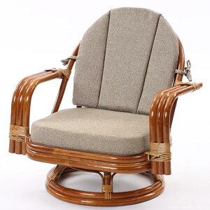 【】籐回転座椅子回転チェアC821HRZSミドルタイプ回転椅子回転チェアラタンミドルタイプ回転座椅子籐ラタン格安和和風アジアン【_のし宛書】【_メッセ】CT15
