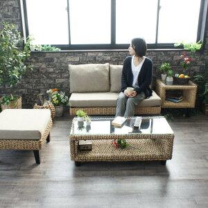 アジアン家具ローテーブルウォーターヒヤシンスアジアンラタンバリ家具T137ATナチュラルウォーターヒヤシンスアジアンバリアジアン家具ガラスコーヒーテーブル北欧木製
