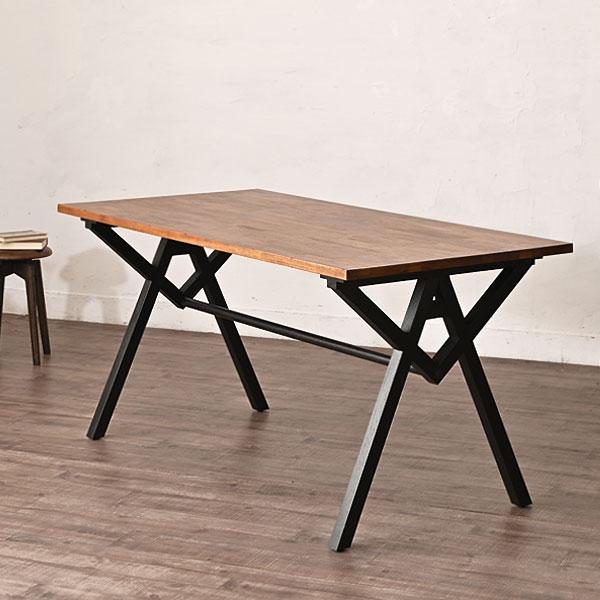インダストリアル家具ダイニングテーブル机食卓木製チークヴィンテージビンテージアンティークガレージガレージハウスミッドセンチュリー