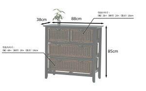 ラタンバスケット天然素材チェストG547ATブラウンアジアン家具バリ雑貨衣類洋服収納シャツ収納キャビネット木製CT17