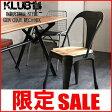 インダストリアル家具 椅子 チェアー 木製 スチール アイアン 鉄 ビンテージ ヴィンテージ アンティーク インテリア おしゃれ REC309BK KLUB14 クラブ14