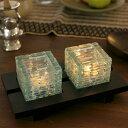 バリ雑貨 グラス型 2灯キャンドルホルダー (ダブル) バリのアジアン...