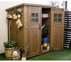 【ポイントアップ+クーポンでお得】物置 屋外 大型 おしゃれ 木製 物置小屋 収納庫 倉庫 天然木 庭 物入れ ガーデン 屋外 家具 カントリー