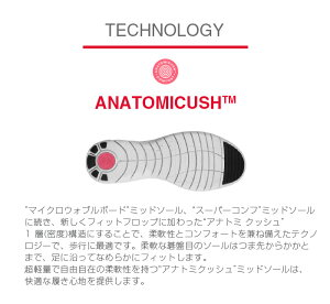 格子のような線が入っていることで柔軟性が増した歩行に最適な1層構造のアナトミクッシュ