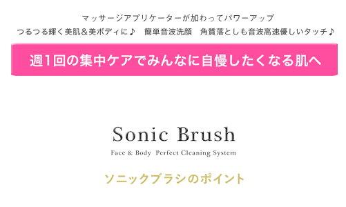 Lapia正規品超音波洗顔フェイス&ボディークリーニングブラシ替えブラシセット付正規品90日保証付