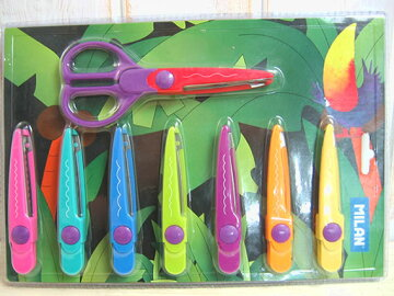 MILAN【ミラン】ハサミの刃の切り口が色んな形に取替え出来るクラフトシザーズセット