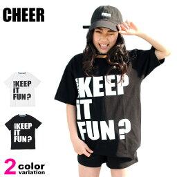 【メール便送料無料】CHEER (チアー) Tシャツ 半袖 メッセージプリント BIG TEE レディース キッズ ジュニア ダンス スポーツジム フィットネス ゆるトップス #cx833110