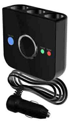 外車に最適!自動電源ON/OFF機能搭載 USBポート付き ノイズレスSuper電源ソケット ラ...