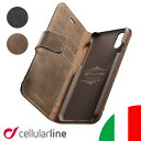 Cellularline iPhoneケース 手帳型 本革 iPhone iPhone12 12 mini Pro Max iPhoneSE SE SE2 iP……