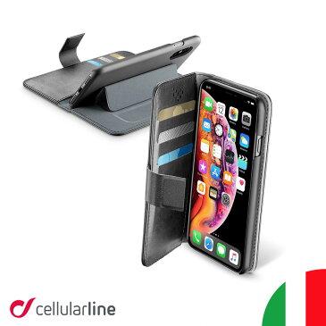 Cellularline iPhoneケース 手帳型 iPhone iPhoneSE SE SE2 第2世代 2020 11 11Pro Max XS XR XSMax iPhone8 iPhone7 iPhoneカバー アイフォンケース 手帳型ケース カバー ケース 薄型 スタンド付き おしゃれ 海外 かっこいい カード収納 icカード