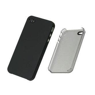 즉 iPhone4 전용에 어 자 켓 세트 (클리어 블랙)/PHK-73 (케이스 및 액정 필름): 파워 (Power Support): Lauda.