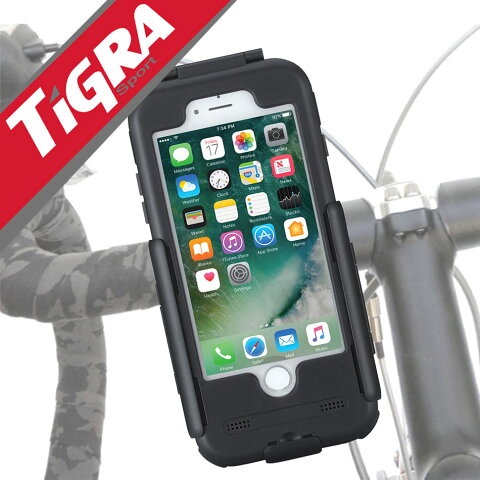 スマホホルダー バイク 防水 自転車 スマホ ホルダー iPhone8 iPhone iPhone7 Plus スマートフォン ホルダー スマートフォンホルダー 耐衝撃 6s SE 5S Galaxy S7 edge アイフォン TiGRA Sport ティグラスポーツ BikeConsole  アイフォン8 オートバイ