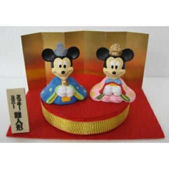 【ディズニーミッキー&ミニー】●丸台雛人形★ひなまつり★