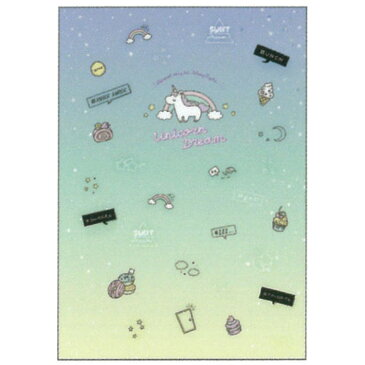 ユニコーングッズ 習いごとノートB5 Fancy Style16
