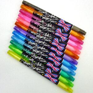 【福袋・ラッピング不可】1475【Sweet Colorful】ツインカラーペン12本セット